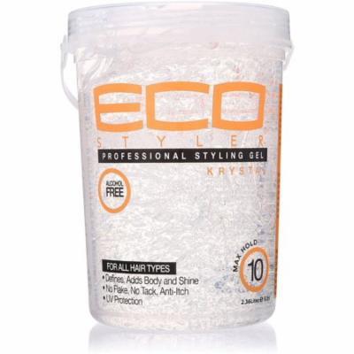 ECO Styler Professional Styling Gel, Krystal Clear 80 oz (Pack of 2)