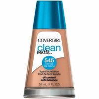 CoverGirl Clean Oil Control Liquid Makeup, Warm Beige [545], 1 oz (Pack of 4)