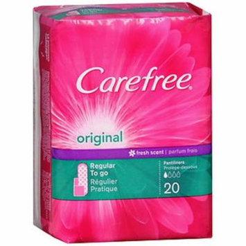 18 PACKS : Carefree Pantiliners, Regular, Fresh Scent - 20 ct
