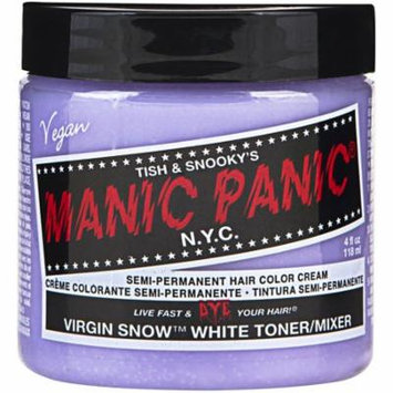Manic Panic Semi-Permanent Hair Color Cream Virgin Snow 4 oz (Pack of 2)