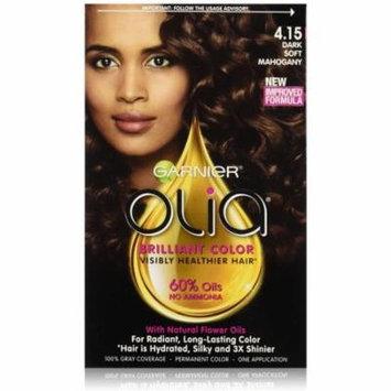 Garnier Olia Oil Powered Permanent Color 4.15 Dark Soft Mahogany 1 Each (Pack of 3)