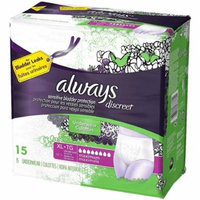 Always Discreet Maximum Absorbency Underwear, Extra Large 15 ea (Pack of 3)