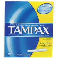 2 Pack Tampax Regular Anti-Slip Grip Cardboard Applicator 20 Tampons Each