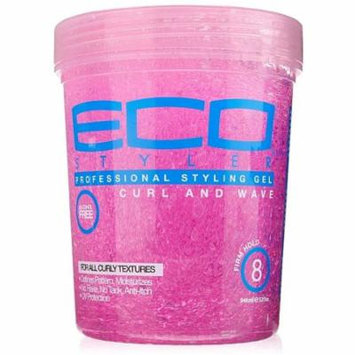 Eco Styler Professional Curl & Wave Firm Hold Styling Gel, Pink 32 oz (Pack of 3)