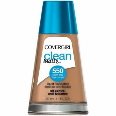 CoverGirl Clean Oil Control Liquid Makeup, Creamy Beige [550] 1 oz (Pack of 6)