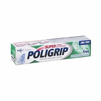 5 Pack - Super Poligrip Denture Adhesive Cream 2.4 Oz Each