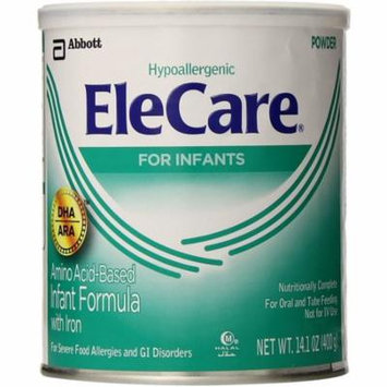 EleCare Amino Acid Based Infant Formula Powder with Iron, Unflavored 14.10 oz (Pack of 6)
