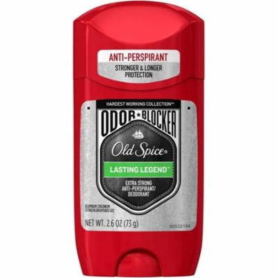 Old Spice Hardest Working Collection Odor Blocker Anti-Perspirant & Deodorant, Lasting Legend 2.60 oz (Pack of 2)