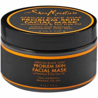 Shea Moisture African Black Soap Problem Skin Facial Mask 4 oz (Pack of 6)