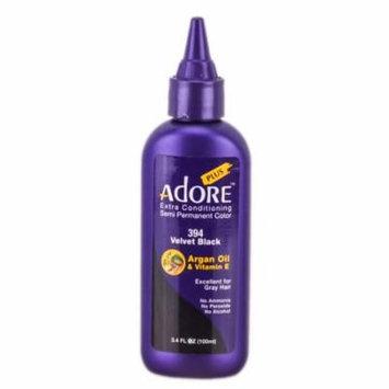 Adore Plus Semi Permanent Color (Color : 394 Velvet Black)