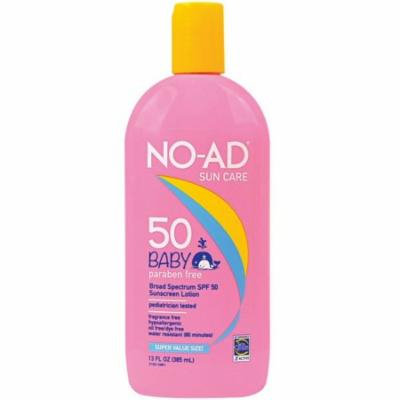 NO-AD Baby Gentle Sunscreen Super Size Lotion, SPF 50 13 oz (Pack of 2)