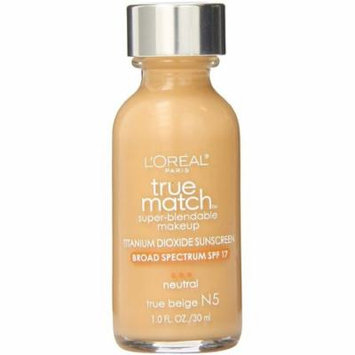 L'Oreal Paris True Match Super-Blendable Makeup, True Beige [N5] 1 oz (Pack of 3)