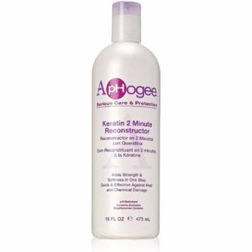 Aphogee Intensive Two Minute Keratin Reconstructor 16 oz (Pack of 2)