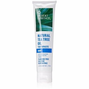 Desert Essence Natural Tea Tree Oil Toothpaste, Mint 6.25 oz (Pack of 2)