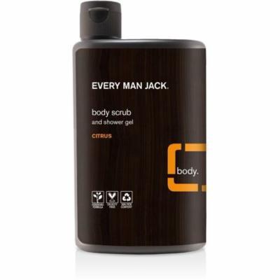 Every Man Jack Body Scrub & Shower Gel, Citrus 16.9 oz (Pack of 3)