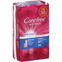 CAREFREE Acti-Fresh Body Shape Extra Long To Go Pantiliners, Unscented 36 ea (Pack of 2)