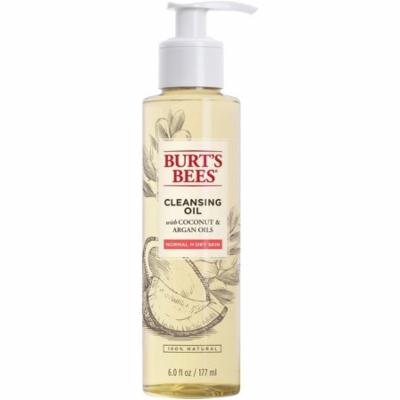 Burt's Bees Cleansing Oil with Coconut & Argan Oils for Normal to Dry Skin 6 oz (Pack of 2)