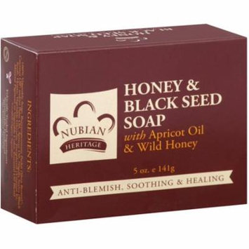 Nubian Heritage Honey & Black Seed Soap 5 oz (Pack of 4)