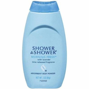 SHOWER TO SHOWER Absorbent Body Powder, Morning Fresh 1 oz (Pack of 2)