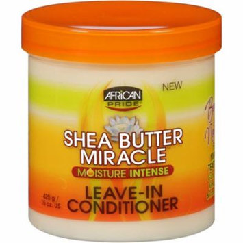 African Pride Shea Butter Miracle Moisture Intense Leave-In Conditioner 15 oz (Pack of 4)