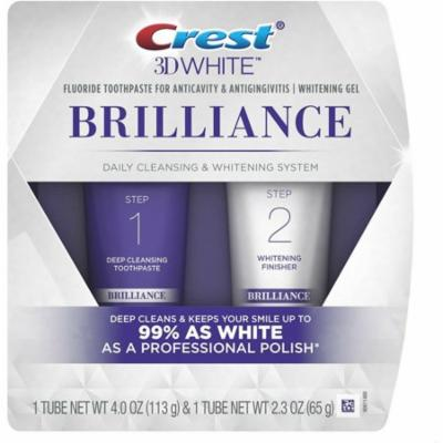 Crest 3D White Brilliance Daily Cleansing Toothpaste & Whitening Gel System 1 ea (Pack of 3)