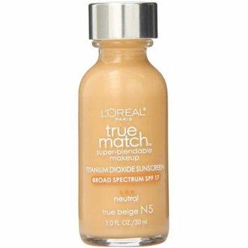 L'Oreal Paris True Match Super-Blendable Makeup, True Beige [N5] 1 oz (Pack of 4)