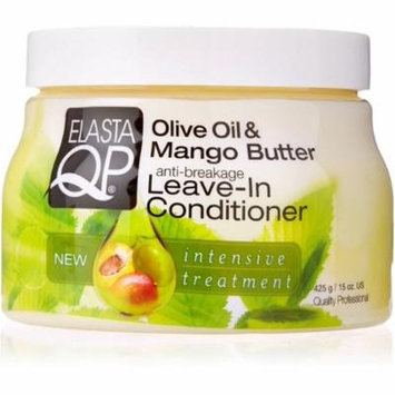 Elasta QP Anti-Breakage Leave-In Conditioner, Olive Oil & Mango Butter 15 oz (Pack of 3)