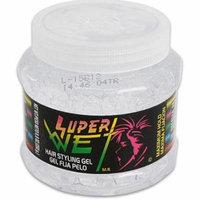 Super Wet Hair Styling Gel, Transparent 8.8 oz (Pack of 2)