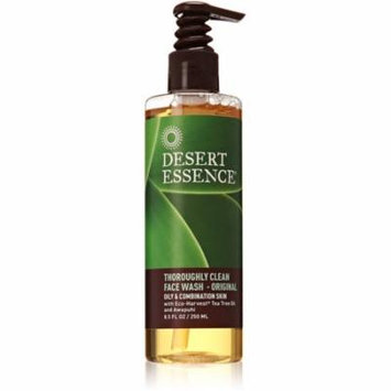 Desert Essence Thoroughly Clean Face Wash, Original 8.50 oz (Pack of 3)