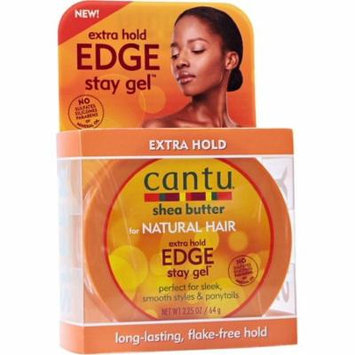 Cantu Shea Butter for Natural Hair Edge Stay Gel, Extra Hold 2.25 oz (Pack of 2)