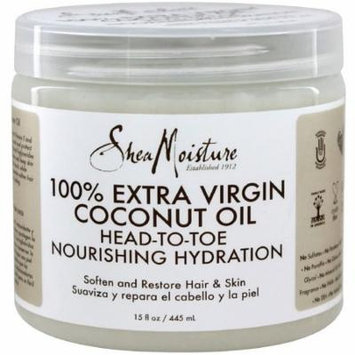 Shea Moisture 100% Extra Virgin Coconut Oil 15 oz (Pack of 4)