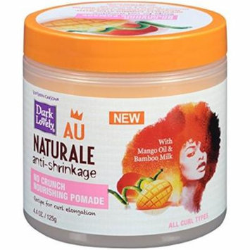 Dark and Lovely Au Naturale Anti-Shrinkage No Crunch Nourishing Pomade with Mango Oil & Bamboo Milk 4.40 oz (Pack of 2)