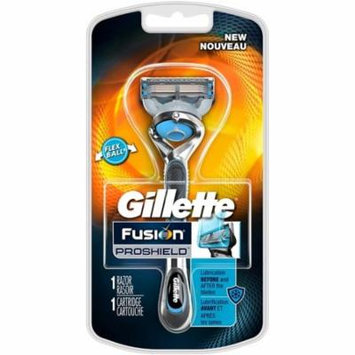 Gillette Fusion ProShield Chill Razor With FlexBall Handle & Blade Refill 1 ea (Pack of 6)
