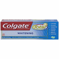 24 PACKS : Colgate Total Whitening Gel Toothpaste, 4.2 Ounce