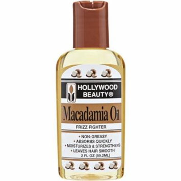 Hollywood Beauty Macadamia Oil, 2 oz (Pack of 2)