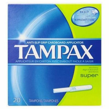 3 Pack - Tampax Cardboard Applicator Tampons - Super Absorbency, 20 Count Each