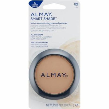 Almay Smart Shade Skintone Matching Pressed Powder, Light [100] 0.20 oz (Pack of 4)