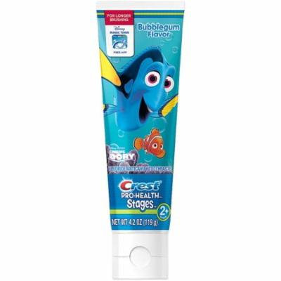 Crest Pro-Health Stages Finding Dory Toothpaste, Bubblegum Flavor 4.20 oz (Pack of 3)