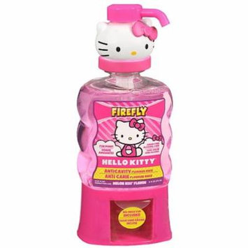 Firefly Hello Kitty Anti-Cavity Mouth Rinse, Melon Kiss Flavor 16 oz (Pack of 4)