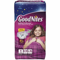 GoodNites Girl 's Bedtime Underwear, Size L/XL 11 ea (Pack of 2)