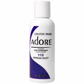 Creative Images Systems Adore Semi-Permanent Haircolor, [113] African Violet 4 oz