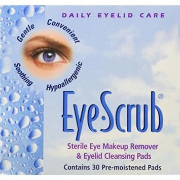 6 Pack - Eye Scrub Sterile Eye Makeup Remover - Eyelid Cleansing Pads 30 Each