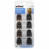 Scunci Claw Clips, Assorted 12 ea (Pack of 6)
