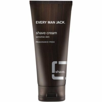 Every Man Jack Sensitive Skin Shave Cream, Fragrance Free 6.70 oz (Pack of 3)