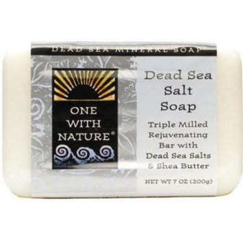 One With Nature Dead Sea Salt Bar Soap 7 oz (Pack of 6)