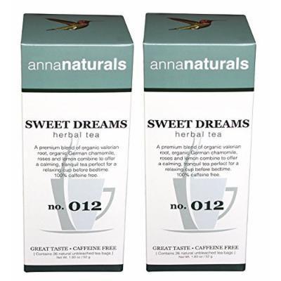 Organic Sleep Tea - Sweet Dreams Tea - For a Quicker and Better Sleep - 52 Bags