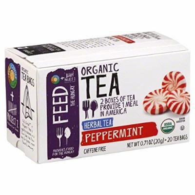Full Circle Organic Herbal Tea (2 Pack of 20 bags Each = 40 Tea Bags) (Peppermint)