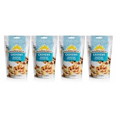 Sunshine Nut Company 'Perfectly Plain' Cashews, Peanut Free, Gluten Free, GMO Free, 7 oz, Pack of 4