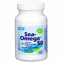2 Pack Rugby Sea-Omega 50 Natural Oil Concentrate 1000MG 50 Softgels Each