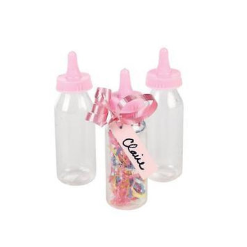 IN-42/1286 Pastel Pink Mini Baby Bottle Containers Per Dozen 2PK